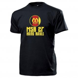 MSR 27 Hans Kahle Motorisiertes Schützenregiment DDR NVA T Shirt #15971