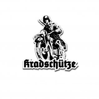 Kradschütze Motorrad Oldtimer Bike Kradmelder Sticker Aufkleber 7x7 cm A5232