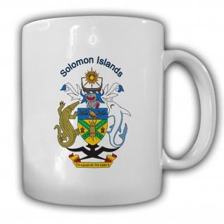 Salomonen Wappen Emblem Solomon Islands Kaffee Becher Tasse #13875