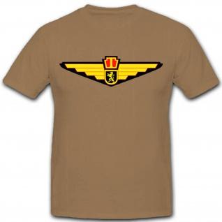 Belgien Luftwaffe Militär Teileinheit Wappen Abzeichen Emblem- T Shirt #2586
