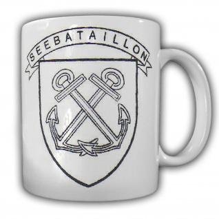 Tasse Seebataillon Bundeswehr Marine Wappen Abzeichen Emblem BA #23831