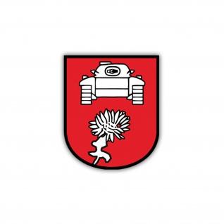 Aufkleber/Sticker PzBtl 553 Panzerbataillon Wappen Abzeichen BW 7x6cm A1208