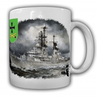 Tasse Lukas Wirp Zerstörer Rommel Bundesmarine Schiff D187 Klasse103 #25070