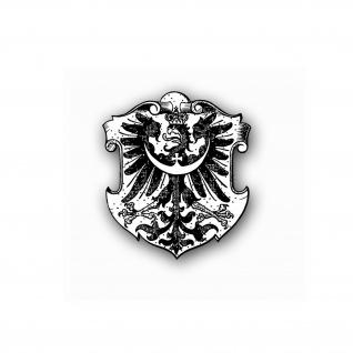 Altes Schlesien Wappen Schlesier Adler Breslau Polen 7x6 cm #A4645