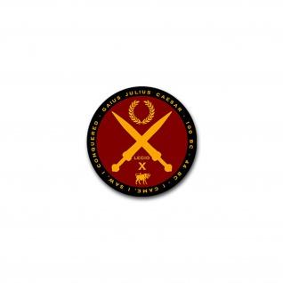 Aufkleber/Sticker Gaius Julius Caesar Cäsar Rom Römer Latein Zitat 7x7cm A2200