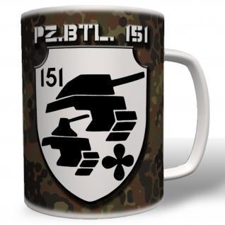 PzBtl 151 Panzerbataillon Panzer Bataillon Wappen Abzeichen Emblem - Tasse #5584