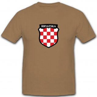 Kroatien HRVATSKA Wappen Flagge Fahne - T Shirt #5214