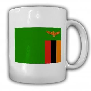 Republik Sambia Fahne Flagge Kaffee Becher Tasse #13876