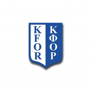 Aufkleber/Sticker KFOR Truppen Kosovo Force Wappen Abzeichen Emblem 5x7cm A892