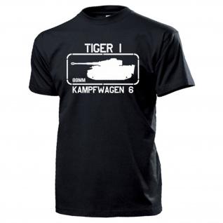 Kampfwagen 6 Tiger 1 Panzerkampfwagen Tiger Panzer - T Shirt #16894
