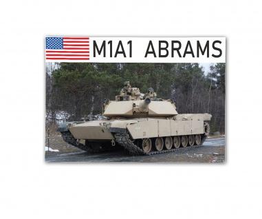 Poster M&N Pictures M1A1 ABRAMS US Panzer USMC USA Plakat ab30x20cm#30268
