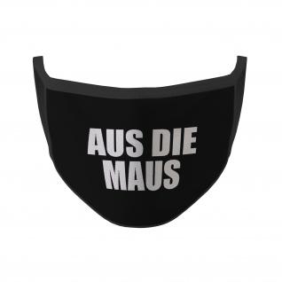Mund Maske Aus die Maus Ruhe im Karton Sprichwort Fun Humor Lustig #35383