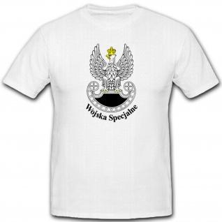 Polen Wappen Abzeichen Emblem Polska Wojska Specjalne - T Shirt #2330