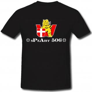 sPzAbt 506 WH Tiger Schwere Panzer Abteilung Wappen Abzeichen WK- T Shirt #1299