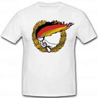 Flagge BRD Fahne Deutschland Fackel Heimat Wappen Hand Abzeichen - T Shirt #3085