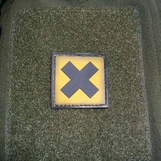 Tactical Gesundheitsschädlich Gefahr Tod Symbol 3D Rubber Patch 4x4cm #16276