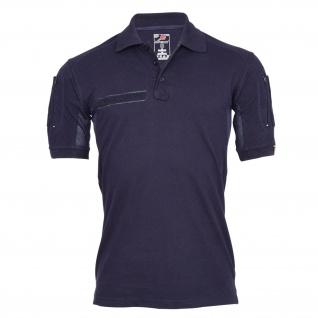 Tactical Polo-Shirt navy blau Polizei Feuerwehr Berufs Bekleidung Hemd #22403