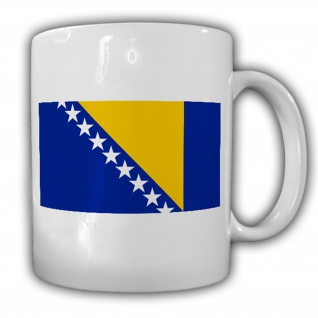 Bosnien und Herzegowina Flagge Fahne Europa - Tasse Kaffee #13420