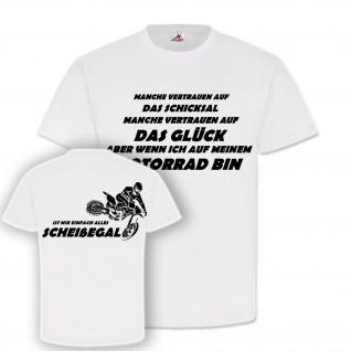 Motocross Schicksal Glück Motorrad Scheissegal Vollgas Kleidung T-Shirt#20116
