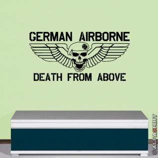 German Airborne Fallschirmjäger Deutschland Militär Wandtattoo 45x92cm #5852