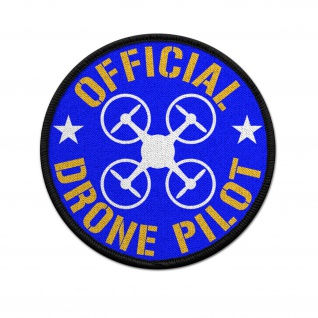 9cm Patch official DRONE PILOT Drohne Kamera Flug Aufnäher Beruf#36740