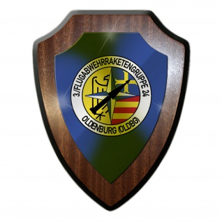 Wappenschild / Wandschild / Wappen - 3. Flugabwehrraketengruppe 24 #11626