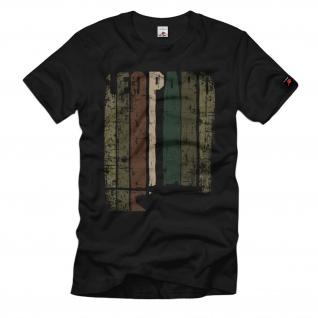 Leopard Panzer 2A6 Panzertruppe Tarnmuster Grunge T-Shirt#36441