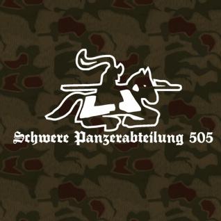 Aufkleber/Sticker - sPzAbt 505 schwere Panzerabteilun (weiß, 15x7cm) #A121
