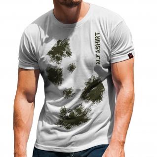 Schneetarn Tarnung Winter BW Militär Alfashirt Armee Schnee T-Shirt #32237