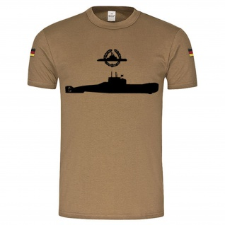 BW Tropen U-Boot Klasse 206 Abzeichen BW U-Bootfahrer Emblem Gold #15540