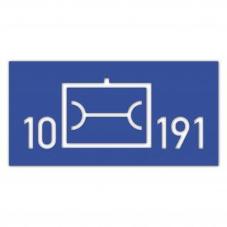 Lackierschablonen Aufkleber 10 Instandsetzung 191 InstBtl BW 36x14cm #A4641