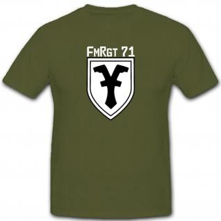 Fmrgt 71 Fernmelderegiment Bundeswehr Militär Emblem T Shirt #2887
