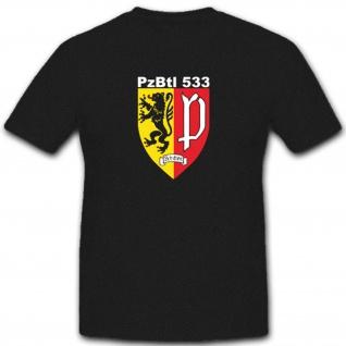 Panzerbataillon Pzbtl 533 Bundeswehr Wappen Abzeichen Armee Heer - T Shirt #3826