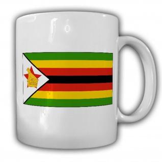 Republik Simbabwe Fahne Flagge Kaffee Becher Tasse #13898