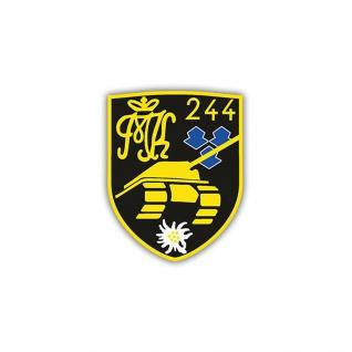 Aufkleber/Sticker PzBtl 244 Panzerbataillon Wappen Abzeichen BW 7x6cm A1237