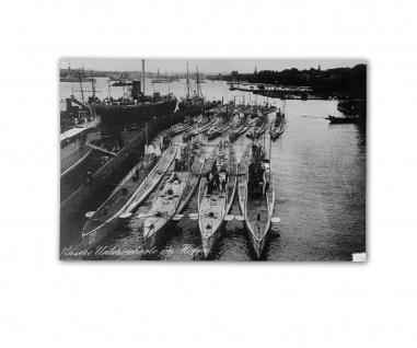 Poster Uboote im Hafen Kiel Kilian Bunker Marine U96 Kaleu ab 30x22cm #31052