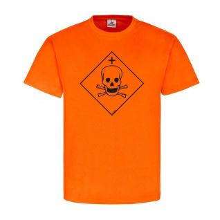 Sehr Giftig Chemie Zeichen Logo Flamme Brand T-Shirt#23918
