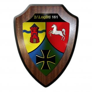 Wappenschild 2 LogBtl 161 Logistikbataillon Bundeswehr Wappen Abzeichen #24381