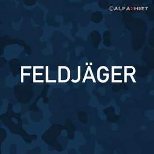 Aufkleber/Sticker Feldjäger Schriftzug Bundeswehr Militär Polizei 20x3cm #A442
