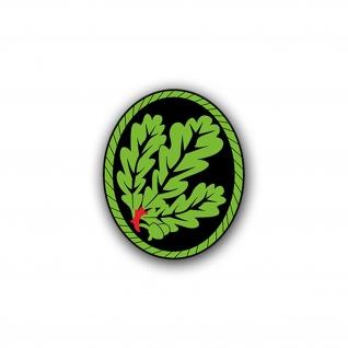 Aufkleber/Sticker Barettabzeichen Jäger Wappen Abzeichen 7x6cm A766