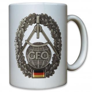 GEO Trupp Bundeswehr Topographie Barett Abzeichen Wappen Emblem - Tasse #9565