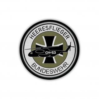 Heeresflieger Bundeswehr CH53 Bückeburg Wappen Patch Aufnäher #18100