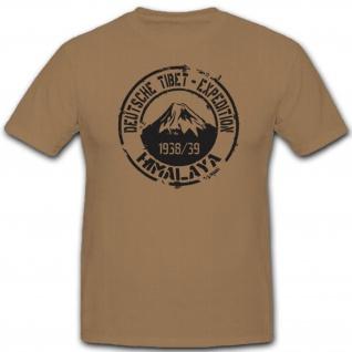 Himalaya Deutschland Deutsche Tibet Expedition Ernst Schäfer - T Shirt #7506