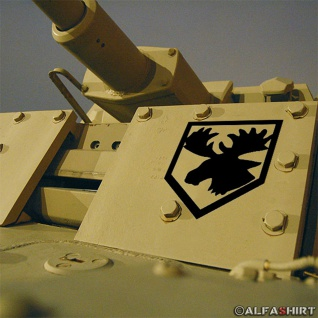 Aufkleber/Sticker 1. ID Elch Geweih Wappen Ostpreußen Tier 8x10cm #A265