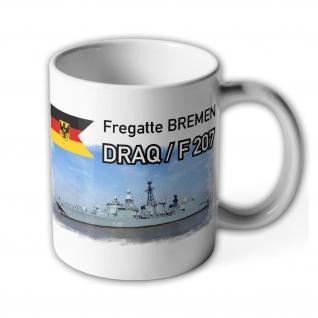 Tasse Fregatte BREMEN DRAQ - F 207_Marine Bundeswehr Bundesmarine Schiff #13973 - Vorschau