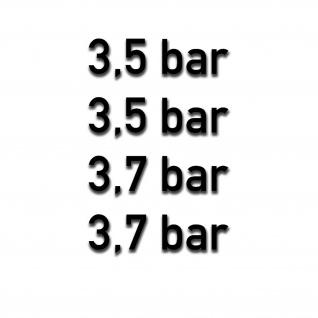 Reifen druck Aufkleber BAR Luftdruck 3, 5 3, 7 Bundeswehr Auto 4x 3, 5x1cm #A5311