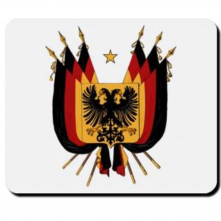 Deutschland Flagge Fahne Land BRD Schwarz Rot Gold - Mauspad PC #16589