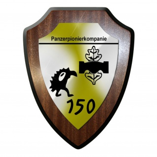 Wappenschild / Wandschild / Wappen - Panzerpionierkompanie PzPiKp 150 #8871