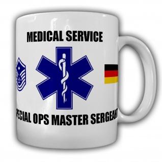 Medical Service Special Ops Master Sergeant Sani Sanitäter Medic - Tasse #15824