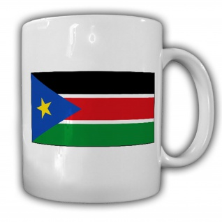 Tasse Republik Südsudan Fahne Flagge Kaffee Becher #13926